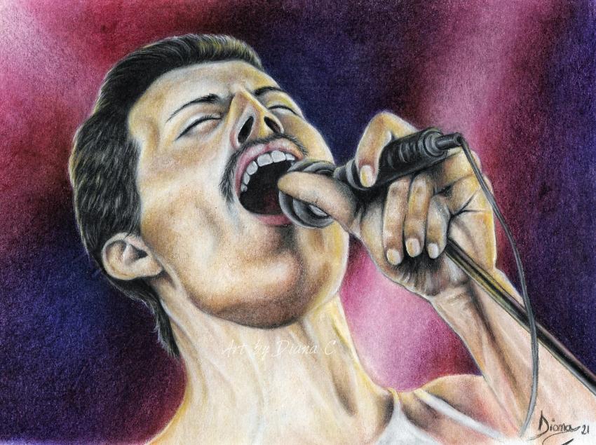 Freddie Mercury by Vampire-Countess